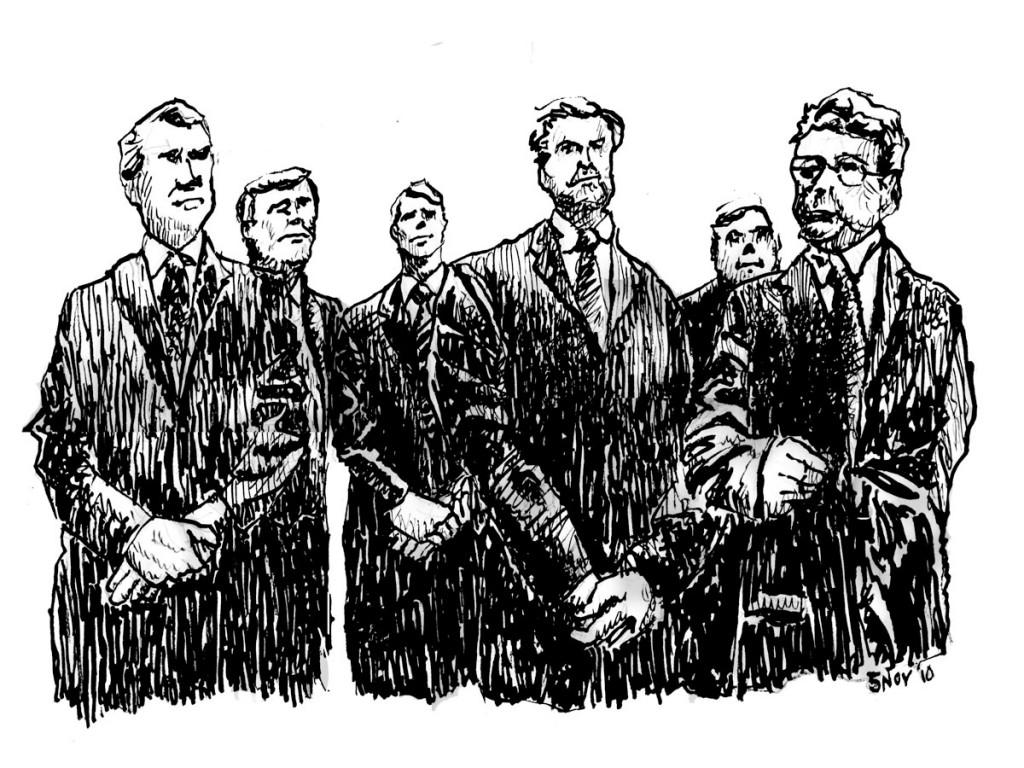 The Bankers illustrated by Mark Lerer
