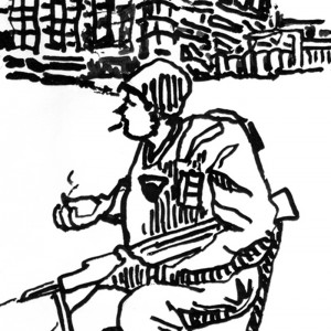 Lonely Soldier cropped - illustrated by Mark Lerer