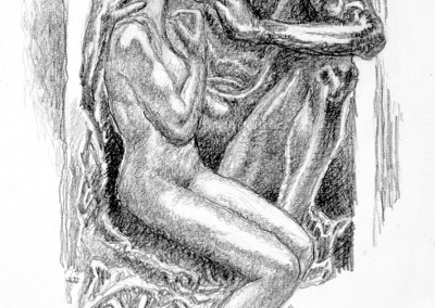 Gates of Hell Three - drawing by Mark Lerer