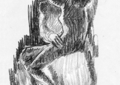 The Kiss - drawing by Mark Lerer