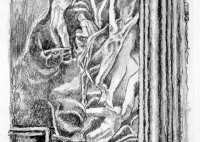 Gates of Hell Two - drawing by Mark Lerer