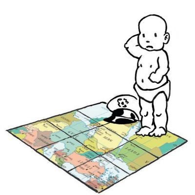 Our baby general studies his map and wonders what to do next. - Mark Lerer