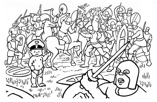 Little General Battle of Hastings Cartoon by Mark Lerer