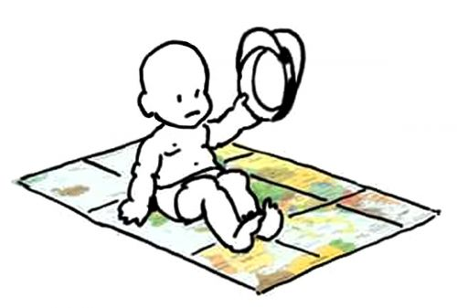 Calls for a meeting on his favorite map. - Little General by Mark Lerer