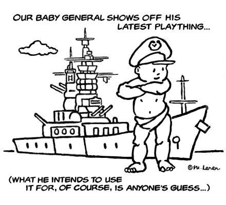 Little General Battleship - drawing by Mark Lerer