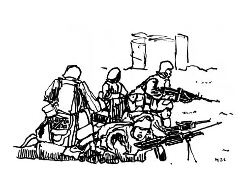 More Trouble in Afghanistan, Ink on Paper, illustrated by Mark Lerer