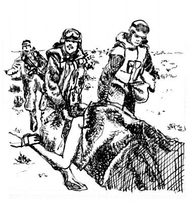 The Wounded, Ink on Paper, Illustrated by Mark Lerer.