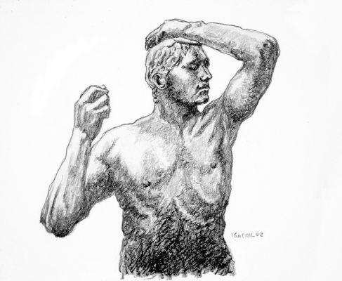 The Age of Bronze - drawing by Mark Lerer