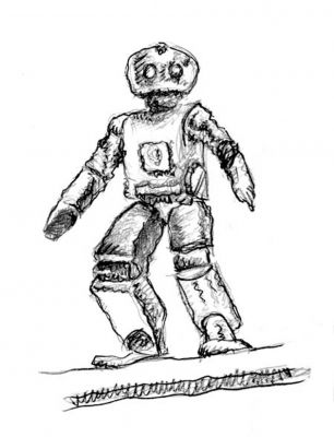 The Robot - drawing by Mark Lerer