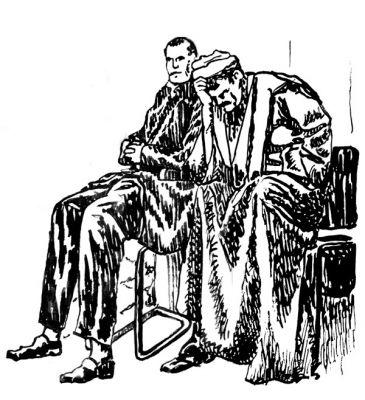Arab Men, Ink on Paper, illustrated by Mark Lerer.