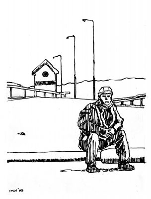 Really Lonely Soldier, Ink on Paper, illustrated by Mark Lerer.