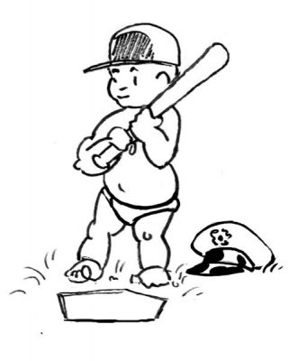 Our baby's at bat. - Little General by Mark Lerer