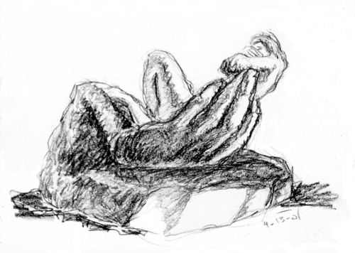 The Hand of God - drawing by Mark Lerer