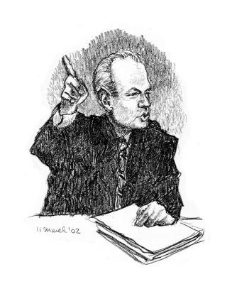 Milosevic - drawing by Mark Lerer