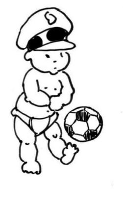 Soccer practice. Exercise is essential to the well being of every major political leader. - Little General by Mark Lerer