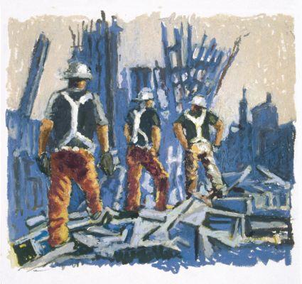 Ground Zero in Paintstick by Mark Lerer