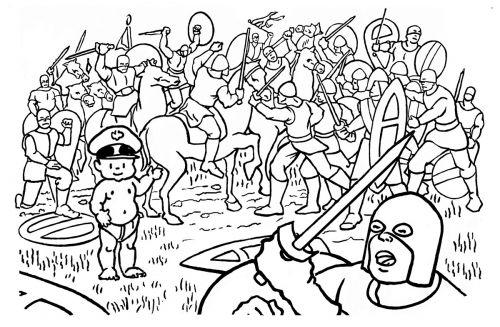 Little General Battle of Hastings Cartoon by Mark Lerer