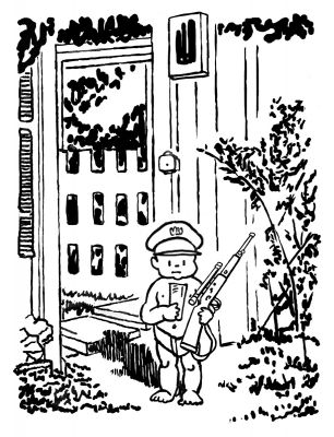 Little General Poses for the Warren Commission Cartoon by Mark Lerer