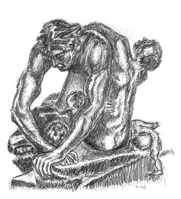 Ugolino - drawing by Mark Lerer
