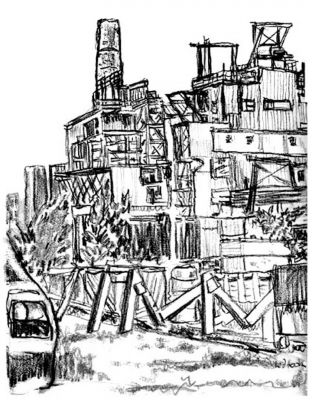Red Hook - New York City drawing by Mark Lerer